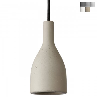 "Petite hanging lamp made of concrete AMP von Design-Betonleuchten, Image 1: Small pendant lamp made of cast concrete (Ø 8 cm with GU10 spot), shown in ""natural"""