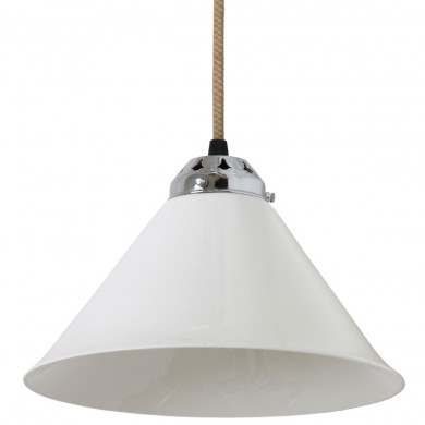 Small pendant light with porcelain shade COBB von Original BTC, Image 1: Small pendant luminaire with porcelain shade is well suited for classic table lighting
