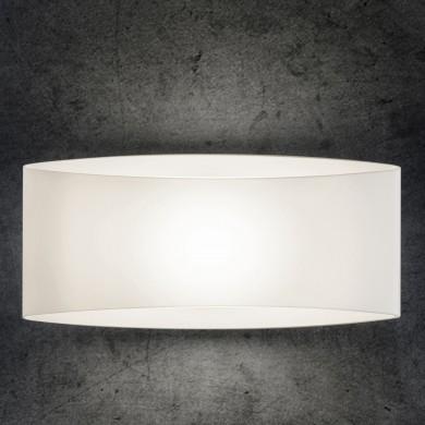 stilvolle designwandleuchte aus opalglas f r halogen oder led casa lumi. Black Bedroom Furniture Sets. Home Design Ideas