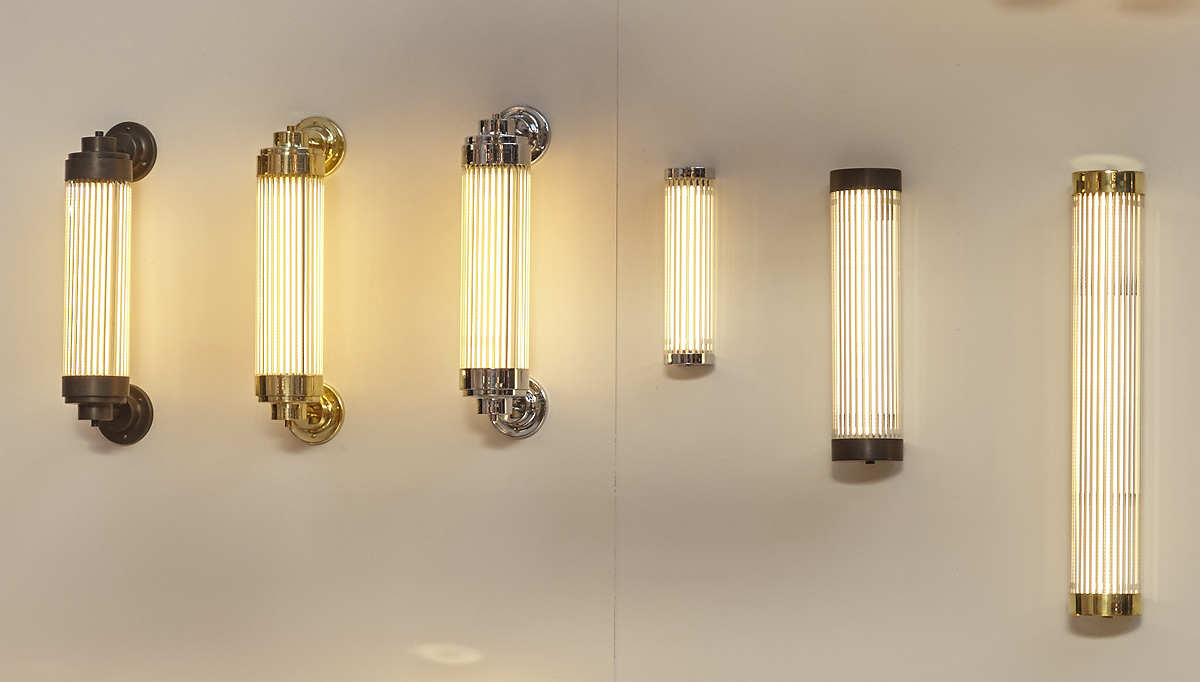 Slim Art Déco wall light LED IP44 - Casa Lumi