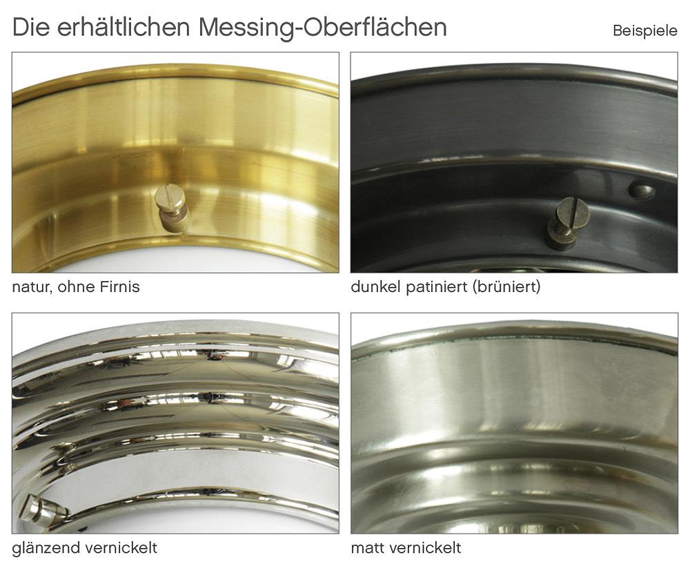 Plafoniere Messing : Messing plafoniere mit flachem opalglas Ø 26 37 cm casa lumi