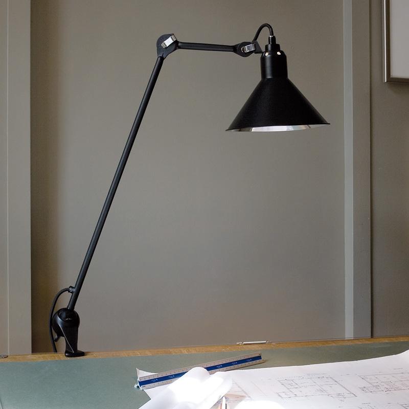 architektenleuchte n 201 klemmleuchte mit trichterschirm casa lumi. Black Bedroom Furniture Sets. Home Design Ideas