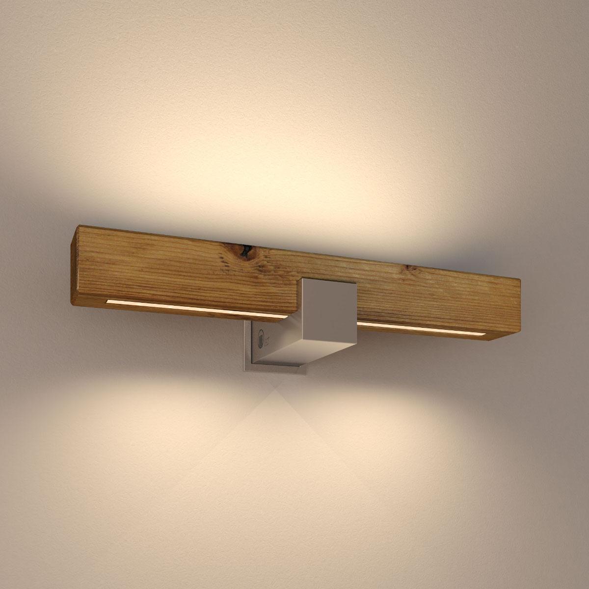 Up down led wandleuchte aus massivholz 40 cm casa lumi - Wandleuchte aus holz ...