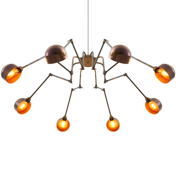 blickfang h ngeleuchter octopus mit acht gelenkarmen casa lumi. Black Bedroom Furniture Sets. Home Design Ideas