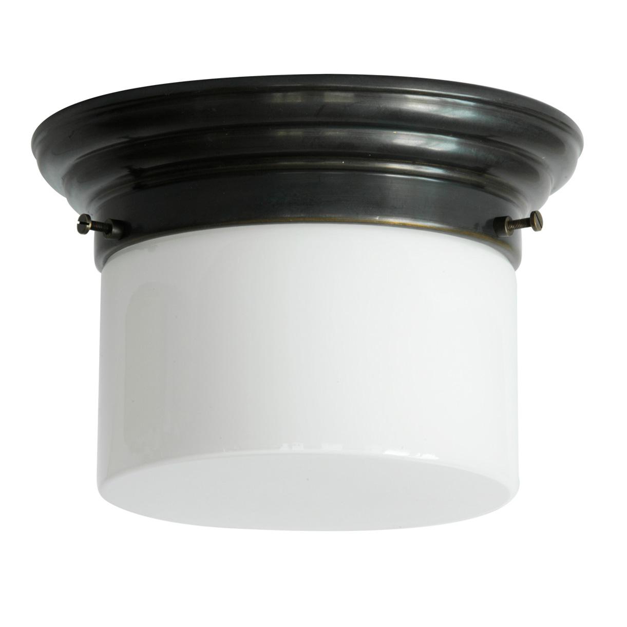 Art Déco Ceiling Tube Lamp With Opal Glass Ø 16/21 Cm Von Collectie Art