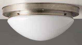 Plafoniere Messing : Art déco plafoniere aus messing mit opalglas Ø cm