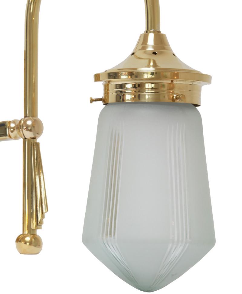 schlichte art d co wandlampe mit rundem wandteil casa lumi. Black Bedroom Furniture Sets. Home Design Ideas