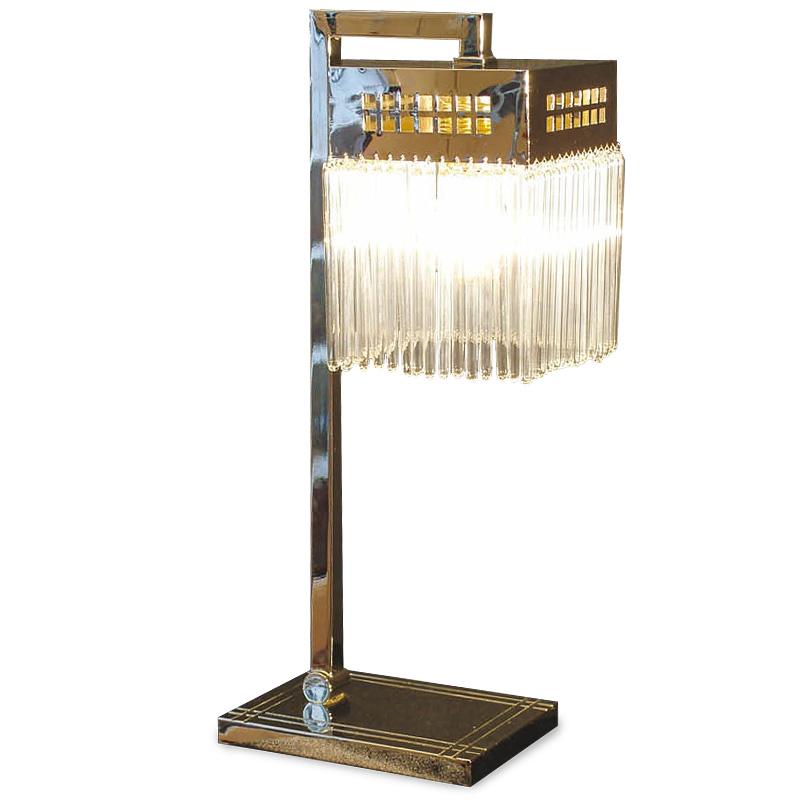 wiener jugendstil tischlampe mit glasst bchen casa lumi. Black Bedroom Furniture Sets. Home Design Ideas