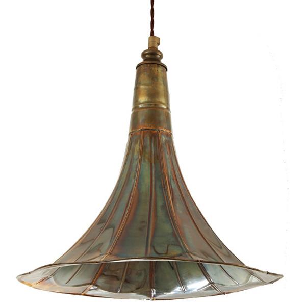Aussergewohnliche Hangelampe Mit Grammophon Schirm Casa Lumi