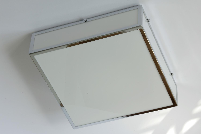 led quadratische decken- oder wandleuchte für das bad - casa lumi - Led Badezimmer Deckenleuchte
