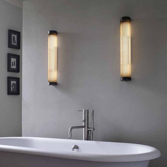 schmale art d co wandleuchte led ip44 casa lumi. Black Bedroom Furniture Sets. Home Design Ideas