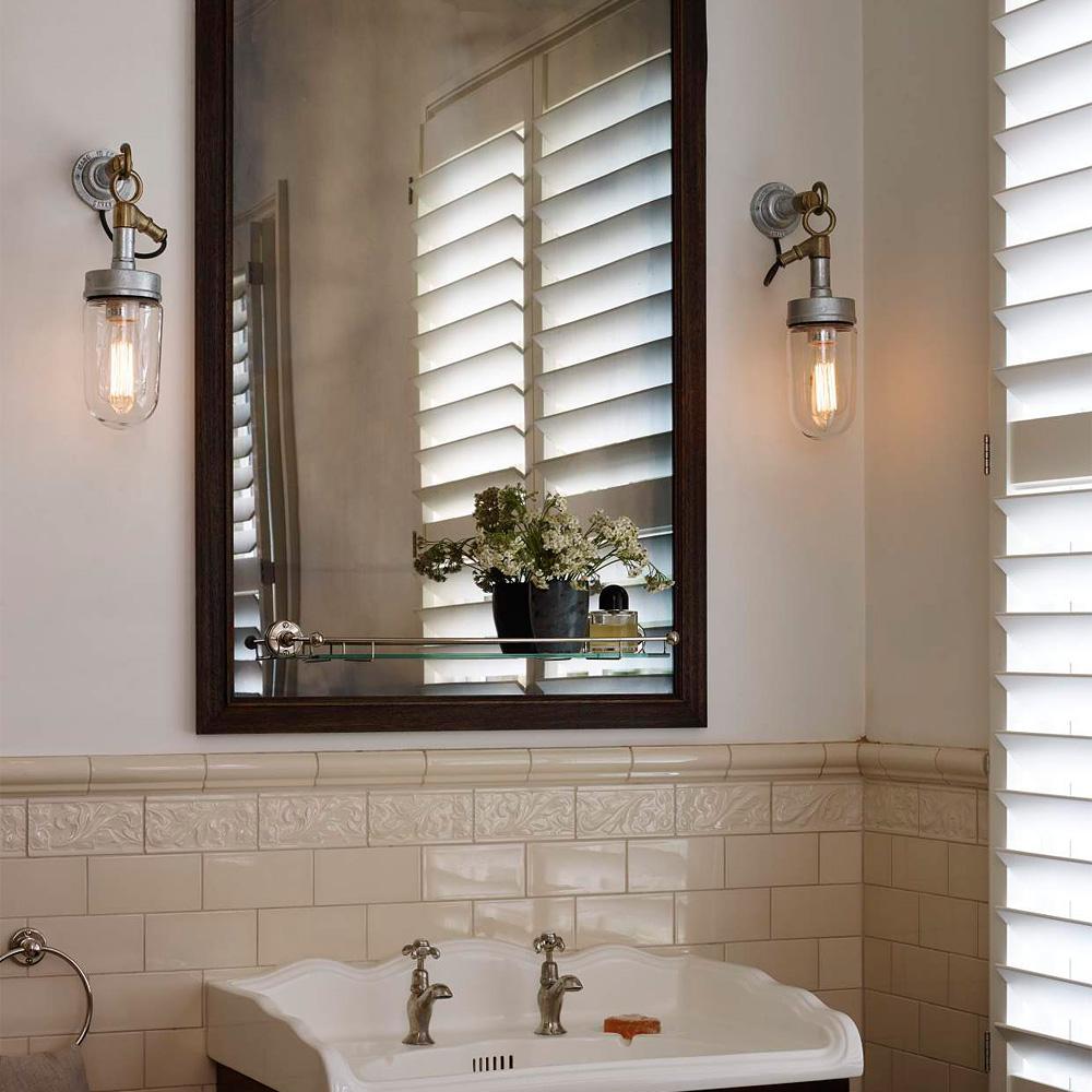 Verzinkte loft wandlampe mit bronzeguss aufh nger casa lumi - Badezimmer wandlampe ...