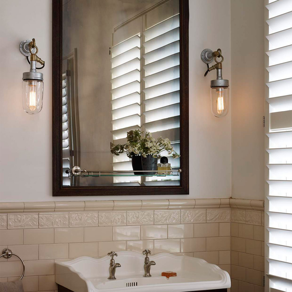 verzinkte loft wandlampe mit bronzeguss aufh nger casa lumi. Black Bedroom Furniture Sets. Home Design Ideas