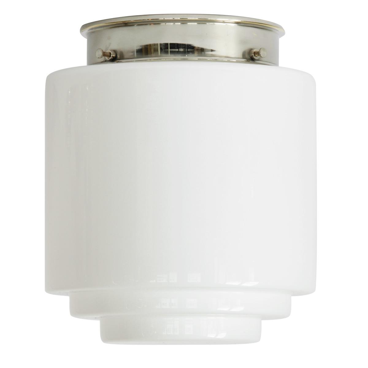 bauhaus deckenleuchte mit gestuftem opal zylinderglas 16. Black Bedroom Furniture Sets. Home Design Ideas