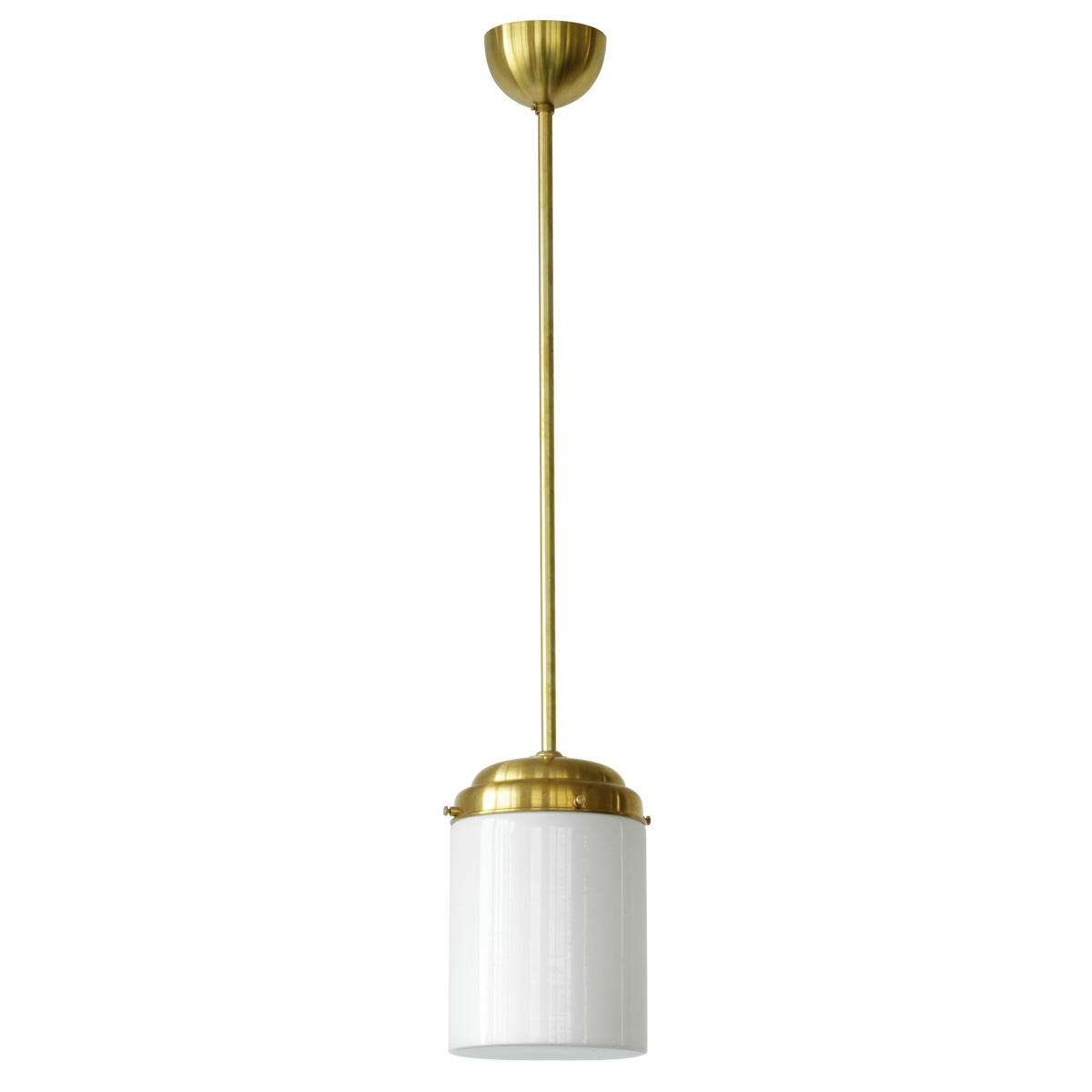 Picture of: Bauhaus Pipe Light With Long Opal Cylinder Glass Casa Lumi