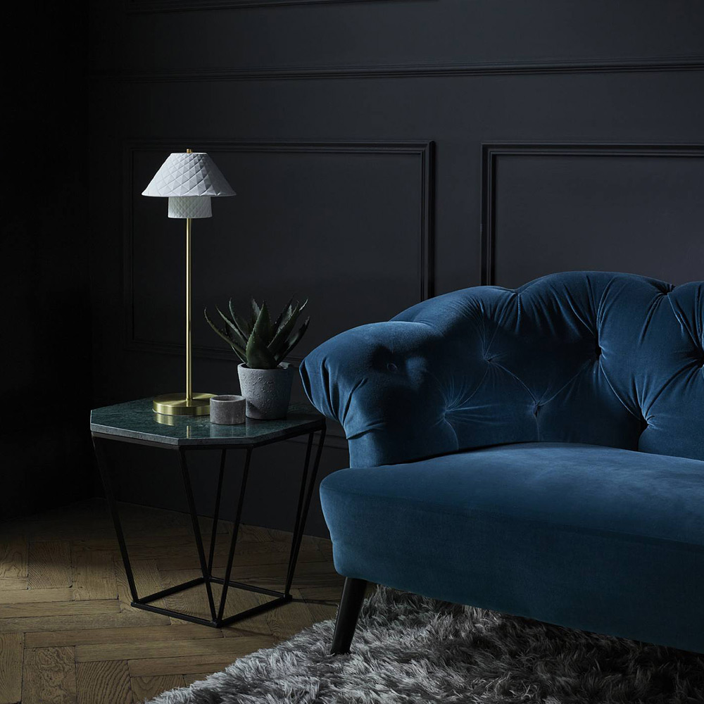 hohe beistell leuchte mit doppel keramikschirm oxford casa lumi. Black Bedroom Furniture Sets. Home Design Ideas