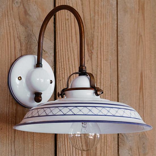 rustikale landhaus wandleuchte aus keramik provenza casa. Black Bedroom Furniture Sets. Home Design Ideas