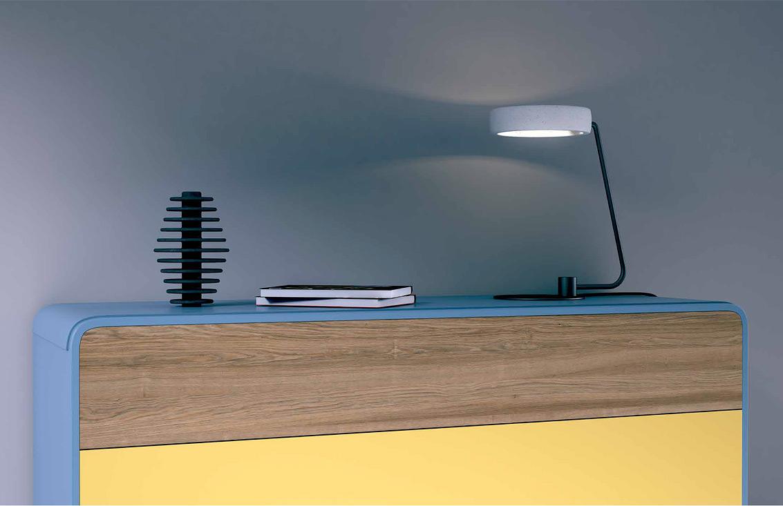 design tischleuchte mit ring aus beton casa lumi. Black Bedroom Furniture Sets. Home Design Ideas
