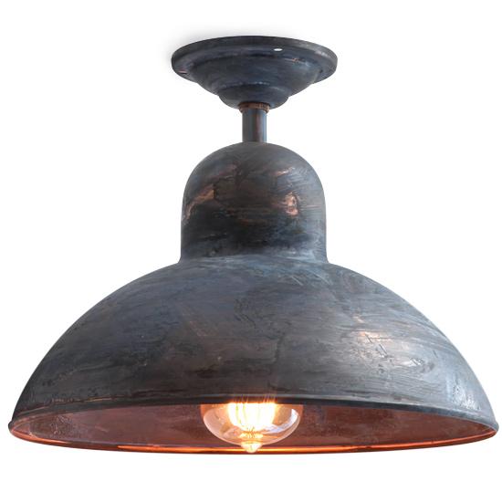 solingen deckenleuchte aus patiniertem kupfer bolich sondermodell fabriklampe casa lumi. Black Bedroom Furniture Sets. Home Design Ideas
