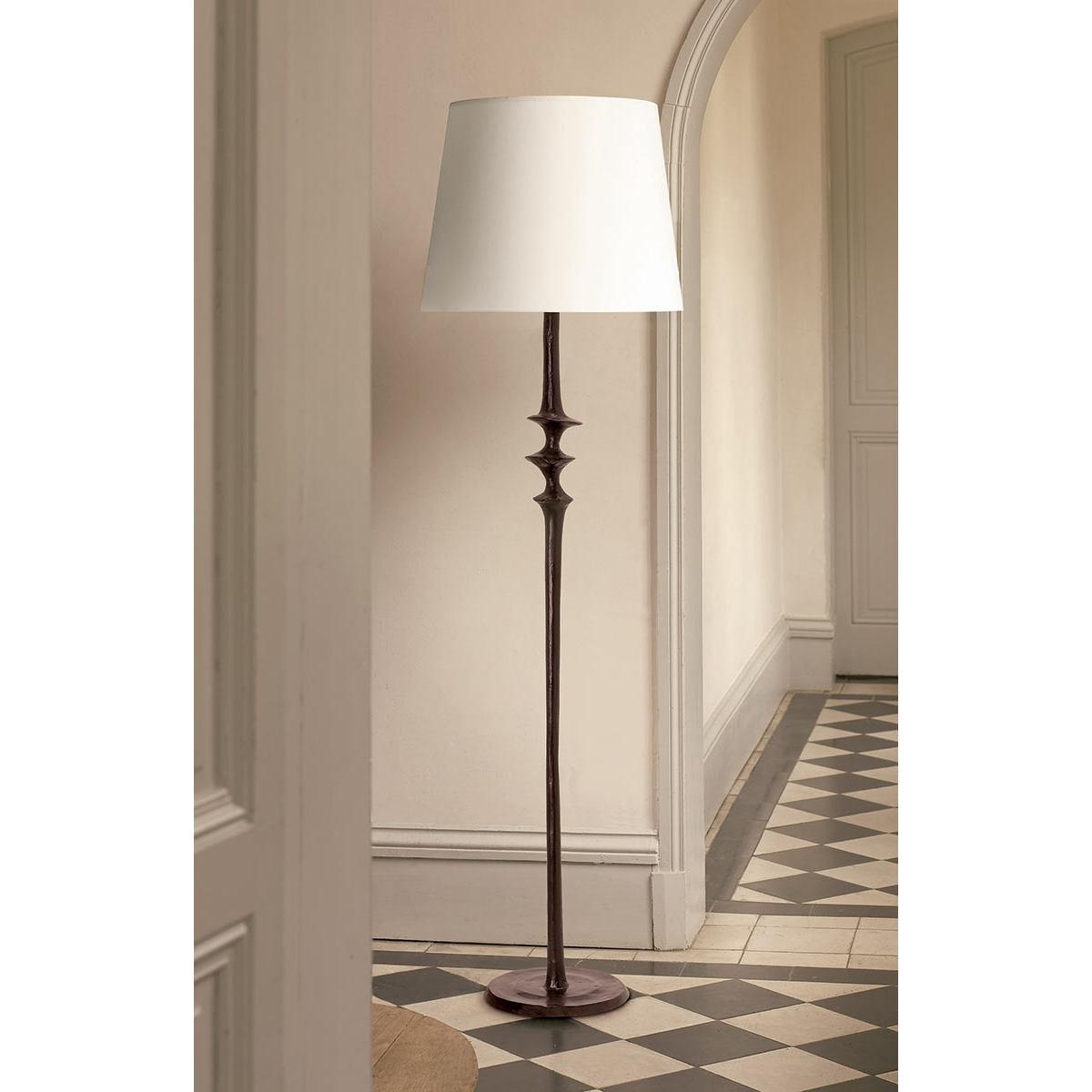 bronzeguss stehleuchte mancha mit stoffschirm casa lumi. Black Bedroom Furniture Sets. Home Design Ideas