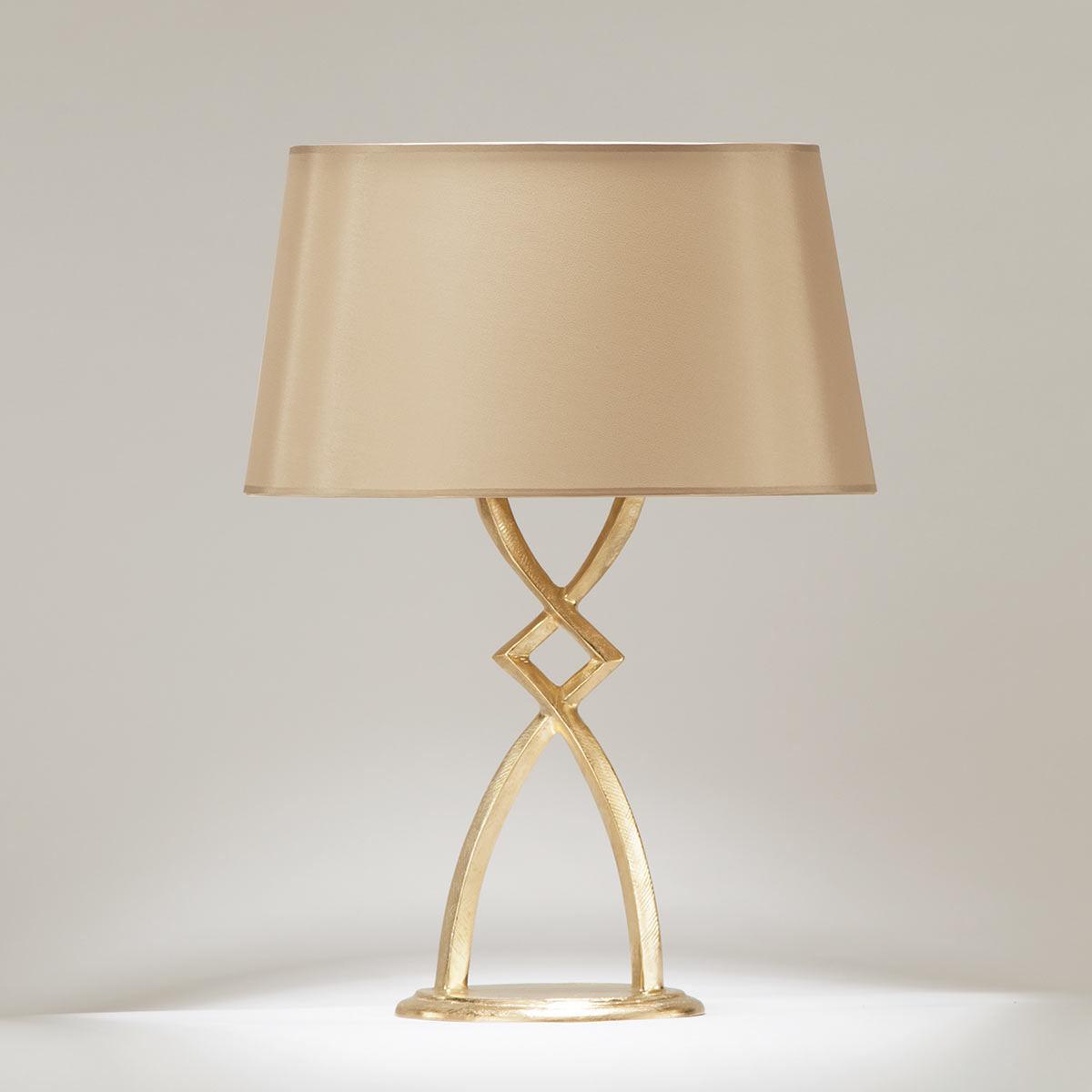 bronzeguss tischleuchte mona mit stoffschirm casa lumi. Black Bedroom Furniture Sets. Home Design Ideas
