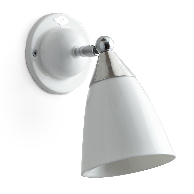 BTC MANN Verstellbare Art Déco Wandlampe mit Porzellan Schirm ...