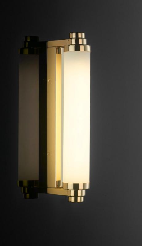 CARLTON Art-Déco-Wandleuchte Badleuchte Badezimmerlampe - Casa Lumi