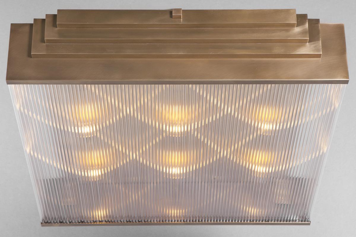 gro e art d co deckenleuchte mit kristall st ben 94 x 80 cm casa lumi. Black Bedroom Furniture Sets. Home Design Ideas