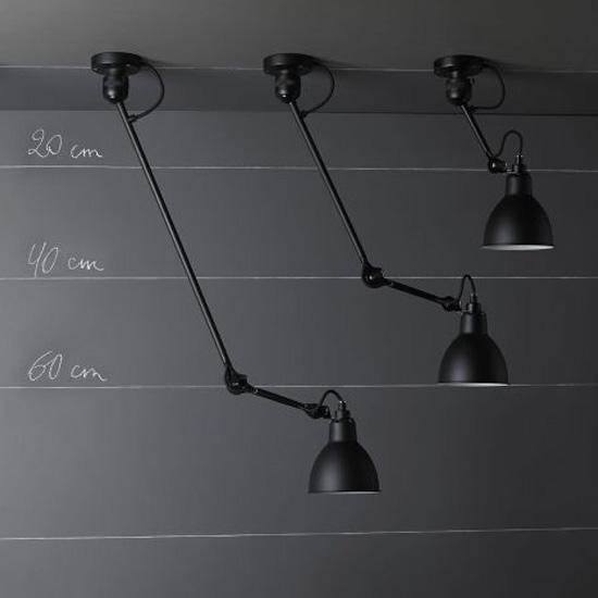 Wandleuchte/Deckenlampe N° 304 Mit Gelenkarm 40/60 Cm Von Lampe Gras,