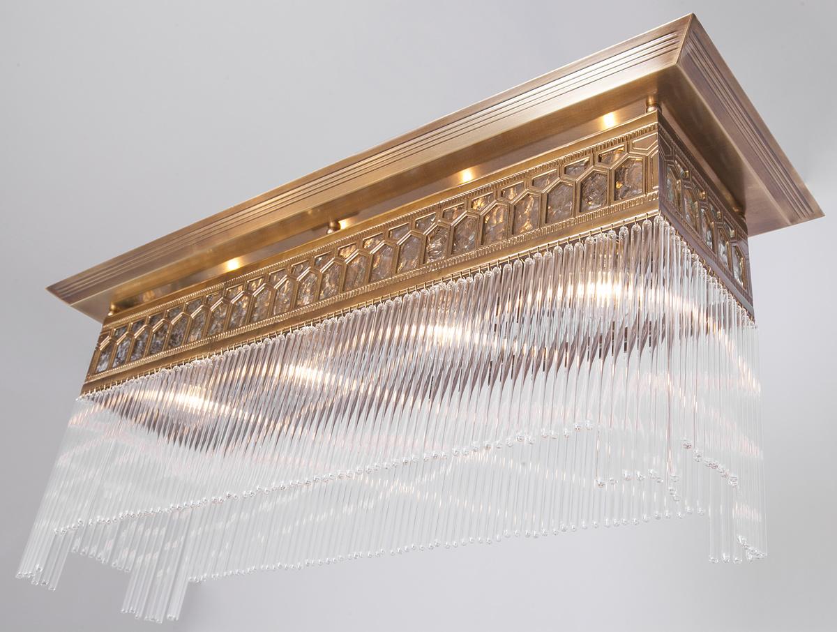 Lange deckenleuchte mit kristallst ben charlotte v 80 x 28 for Lange deckenleuchte