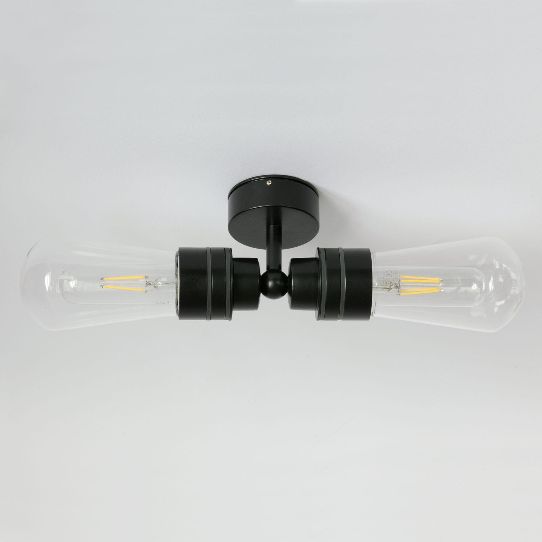 Doppel Badezimmer Lampe mit IP20 Glaskolben, Wand oder Decke ...