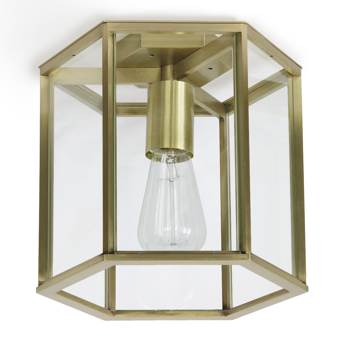kleine sechseckige deckenleuchte aus glas und messing regensburg 23 25 cm casa lumi. Black Bedroom Furniture Sets. Home Design Ideas