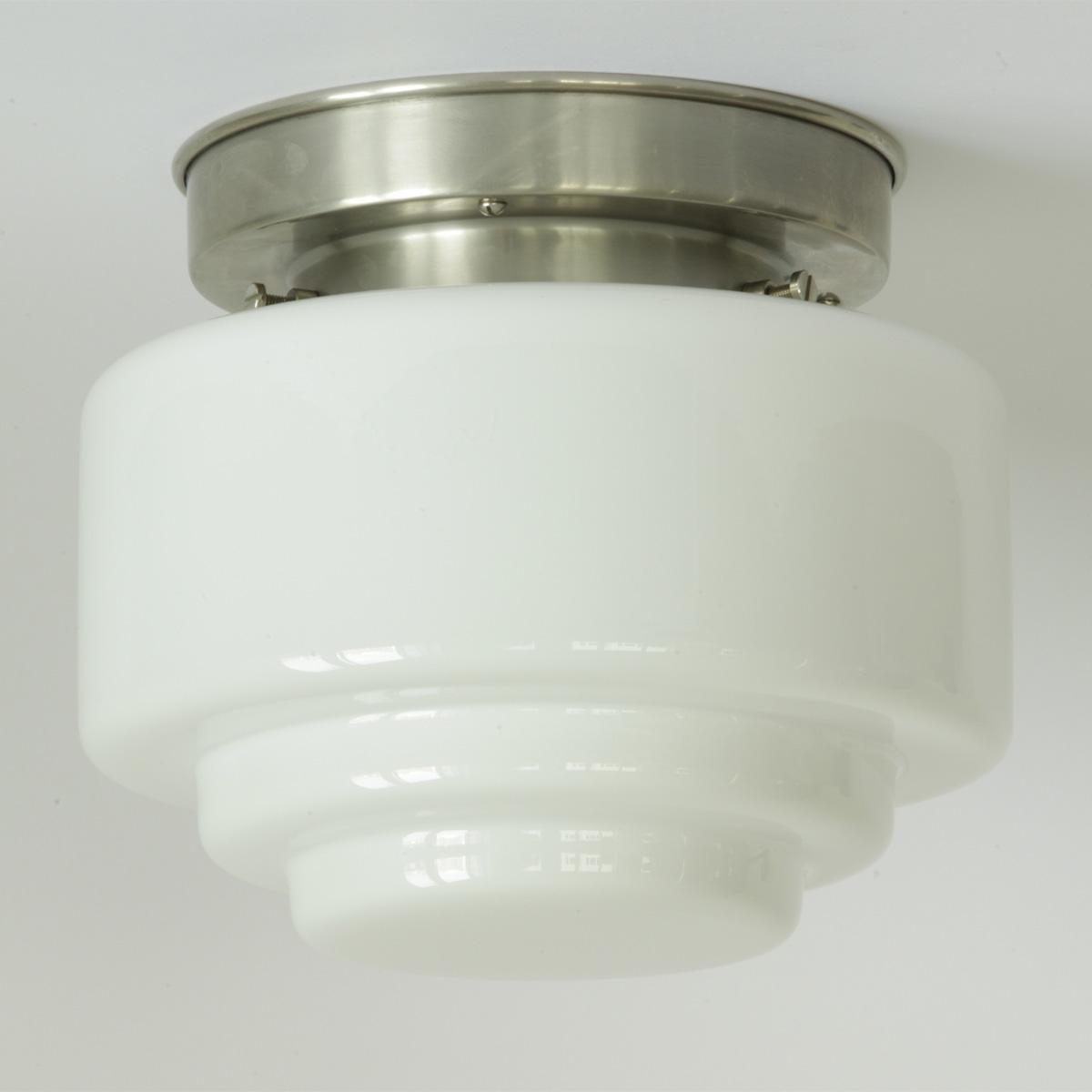 gro e deckenleuchte mit breitem gestuften opal zylinderglas 20 24 30 34 cm casa lumi. Black Bedroom Furniture Sets. Home Design Ideas