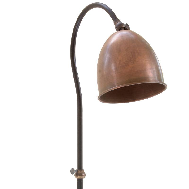 delfi elegante stehlampe f r den tisch mit kupferschirm casa lumi. Black Bedroom Furniture Sets. Home Design Ideas