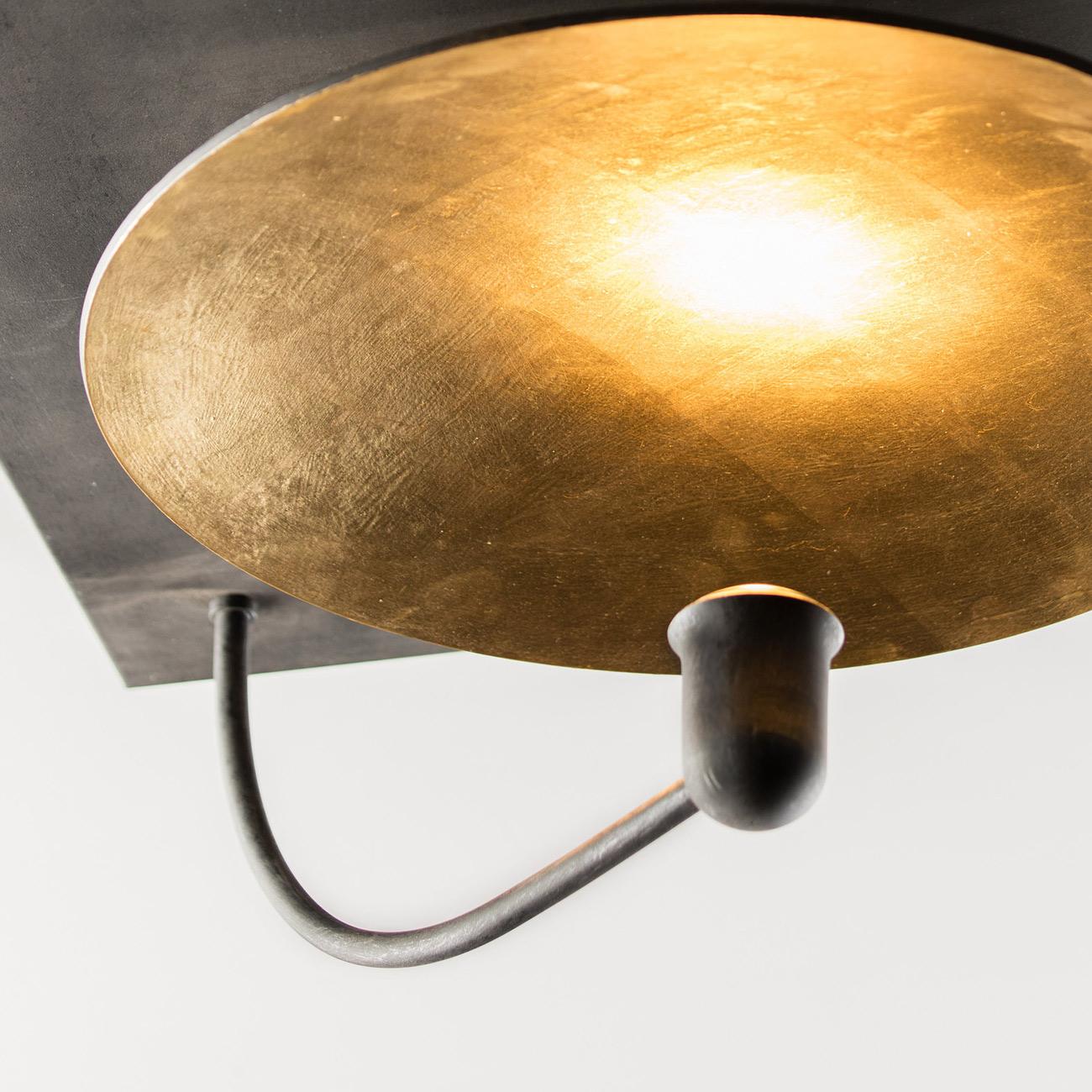 sanftes indirektes licht deckenleuchte mit goldenem. Black Bedroom Furniture Sets. Home Design Ideas