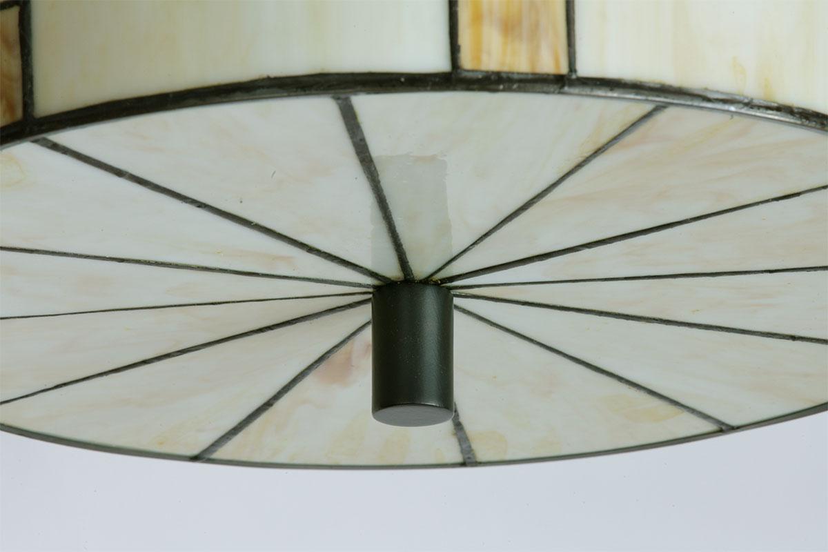 Tiffany Lampen Amsterdam : Round ceiling light with tiffany glass shade casa lumi