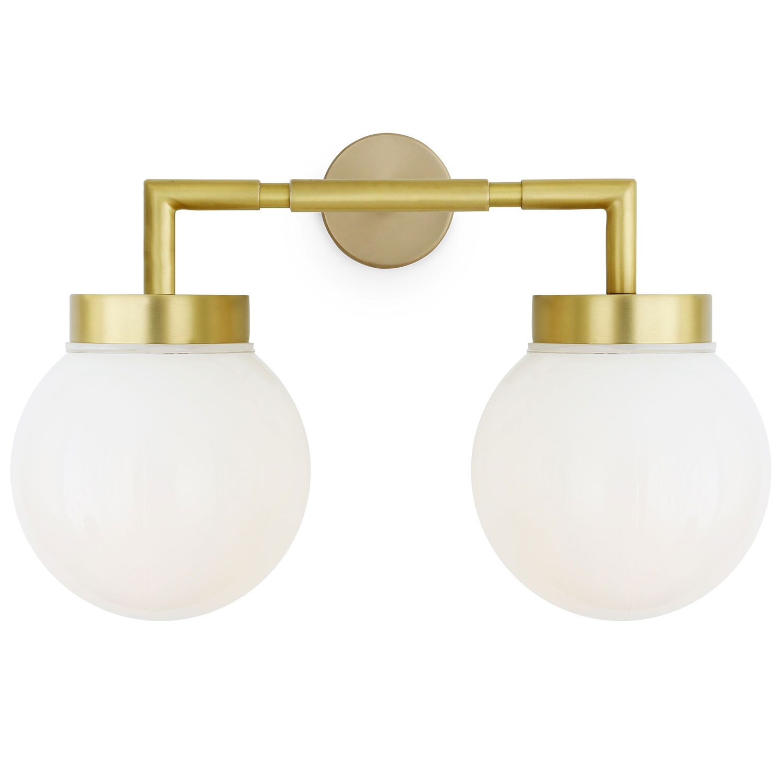 Badezimmer Wandlampe mit zwei Kugeln, IP20   Casa Lumi