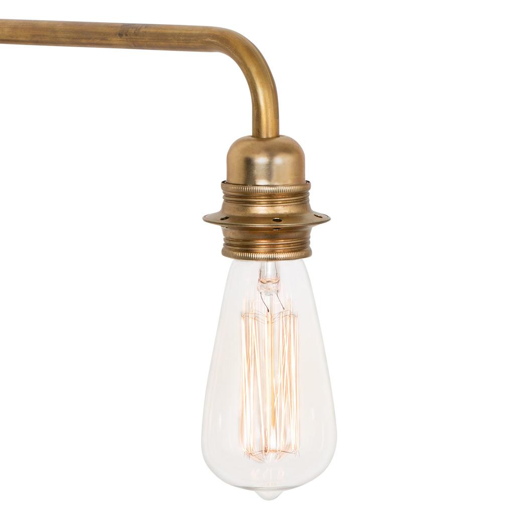schwenkbare wandlampe edison aus messing casa lumi. Black Bedroom Furniture Sets. Home Design Ideas