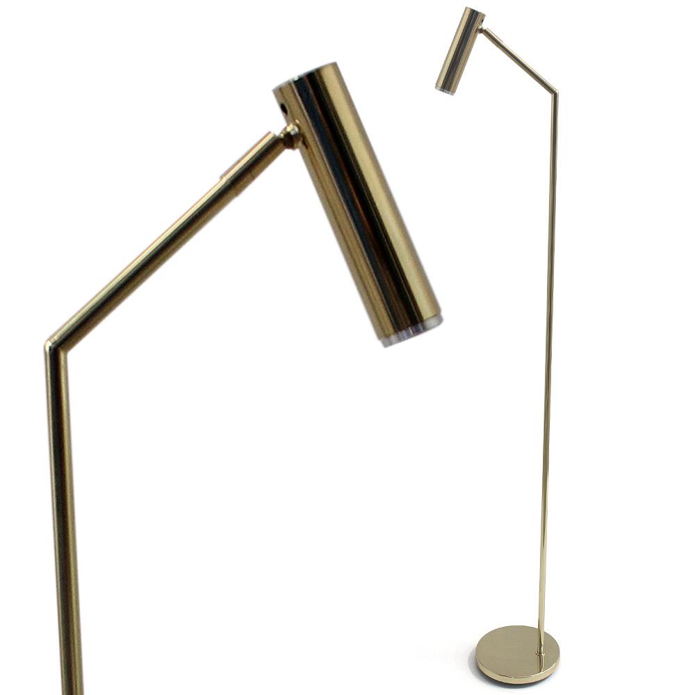 Schlanke Strahler Stehlampe Aus Messing Oder Kupfer Oeil Casa Lumi