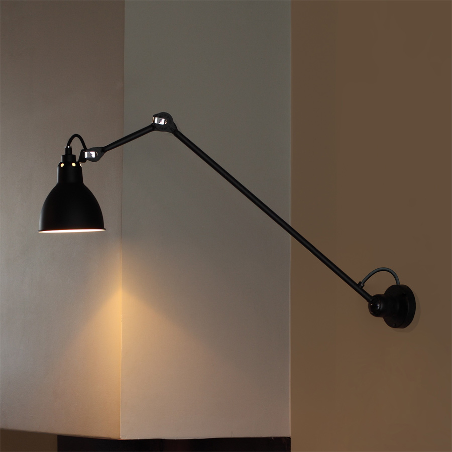 wandleuchte deckenlampe n 304 mit gelenkarm 40 60 cm casa lumi. Black Bedroom Furniture Sets. Home Design Ideas