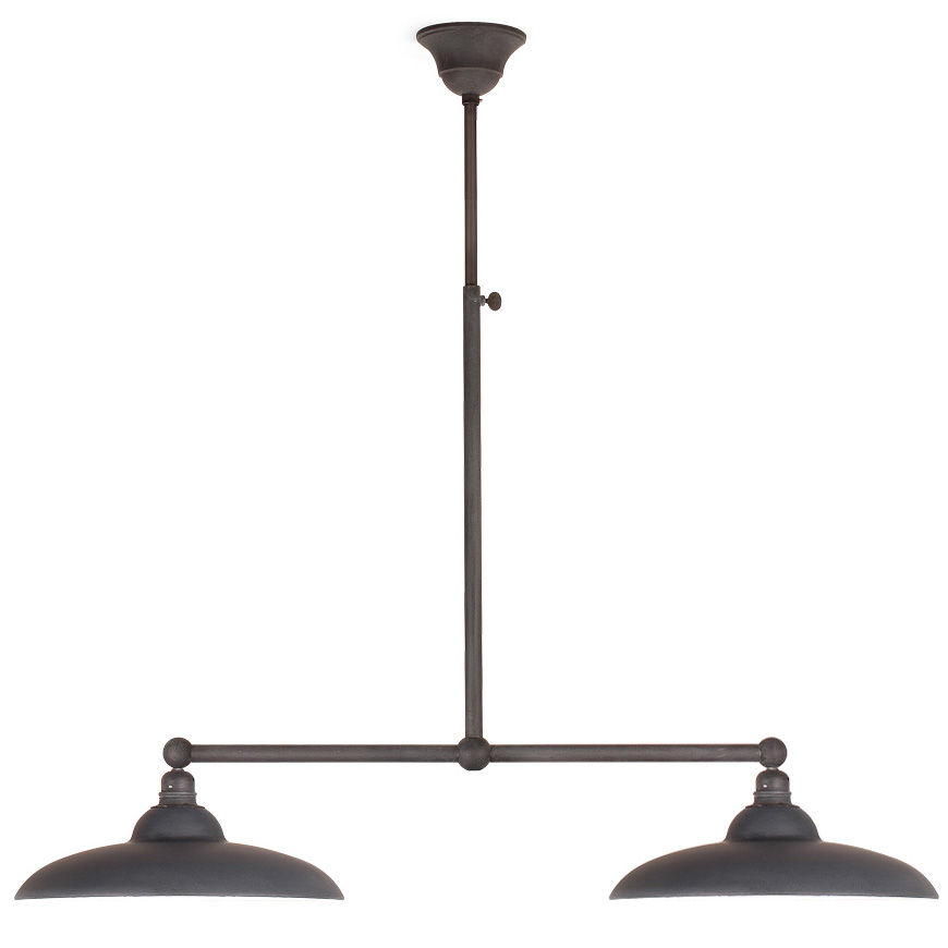 mit zwei schirmen von breda leuchten bild 1 balken h ngeleuchte mit. Black Bedroom Furniture Sets. Home Design Ideas