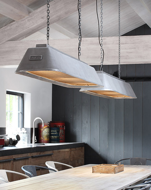 Long Industrial Pendant Light For Tables And Counters BIS Von Breda  Leuchten, Image 5: