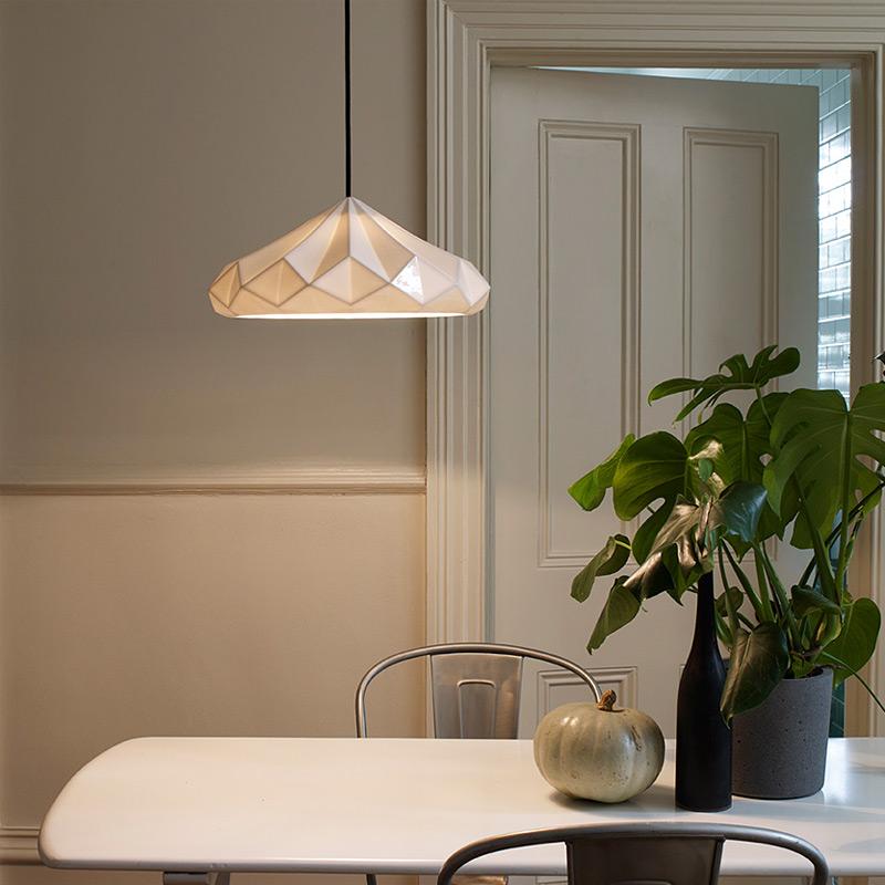 Moderne Hängeleuchten große facetten hängeleuchten aus porzellan hatton 4 5 casa lumi