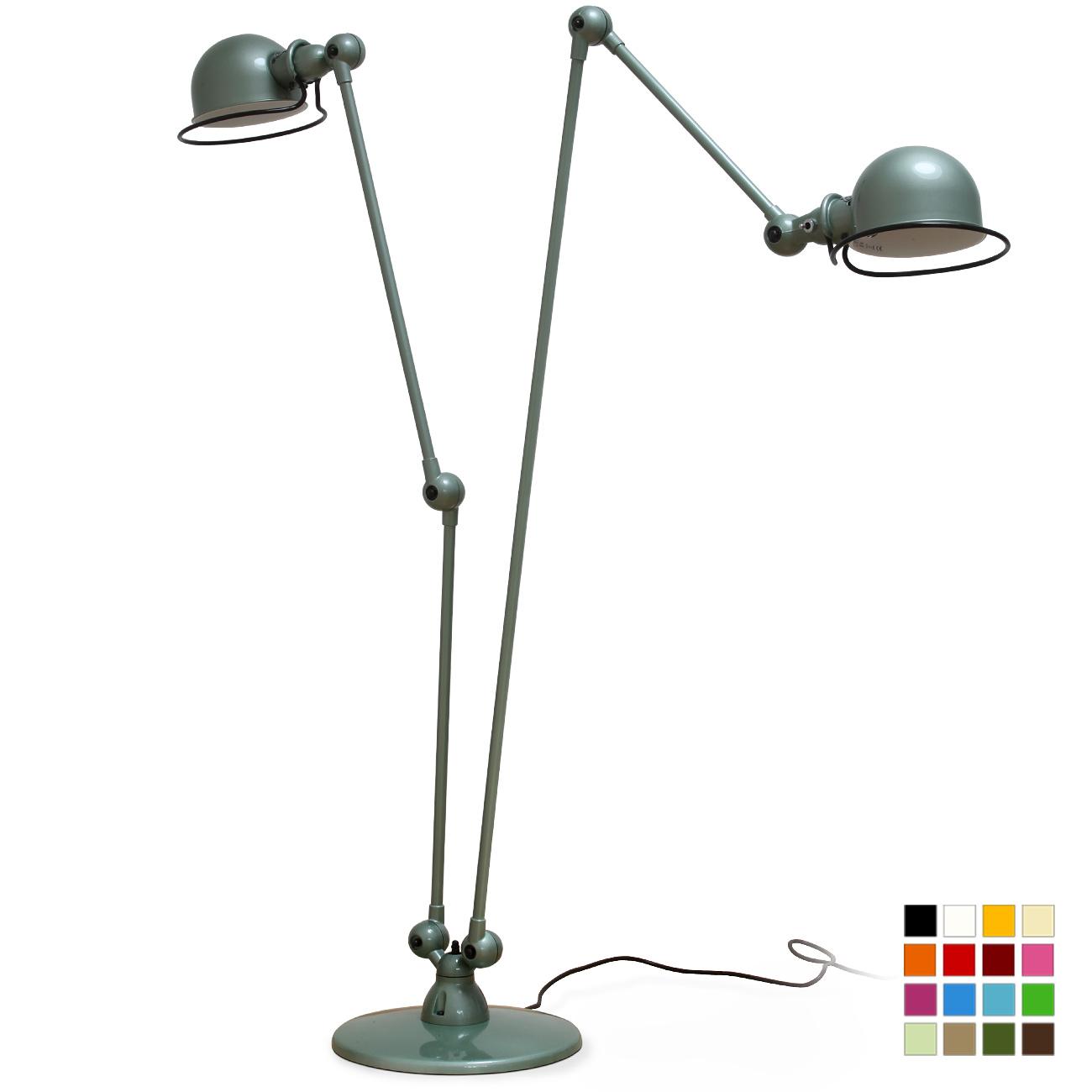 Extravagante zweiarmige doppel stehleuchte dd7460 casa lumi for Leselampe stehlampe