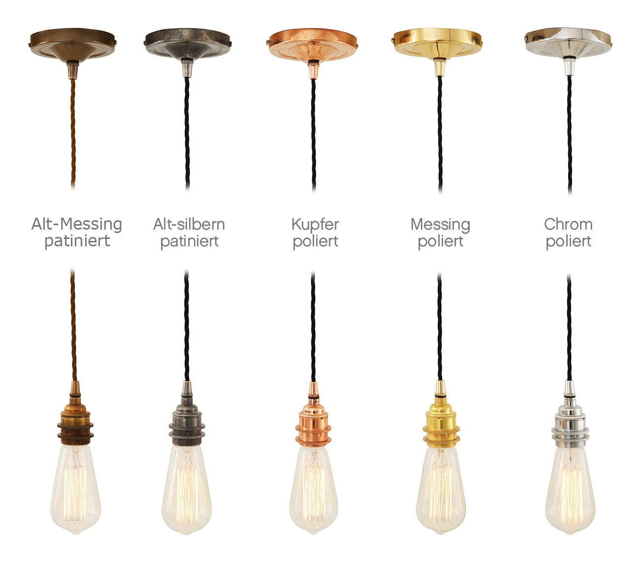 Simple Pendant Light For Use With Edison Bulbs Von Aire Lighting Image 12