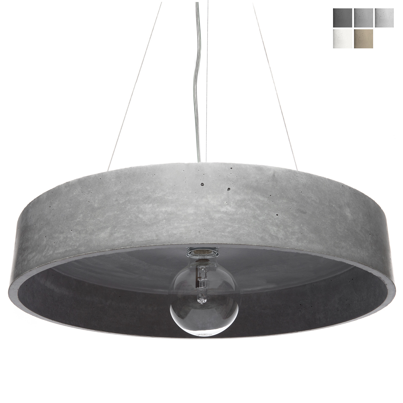 light lamp nox concrete pendant