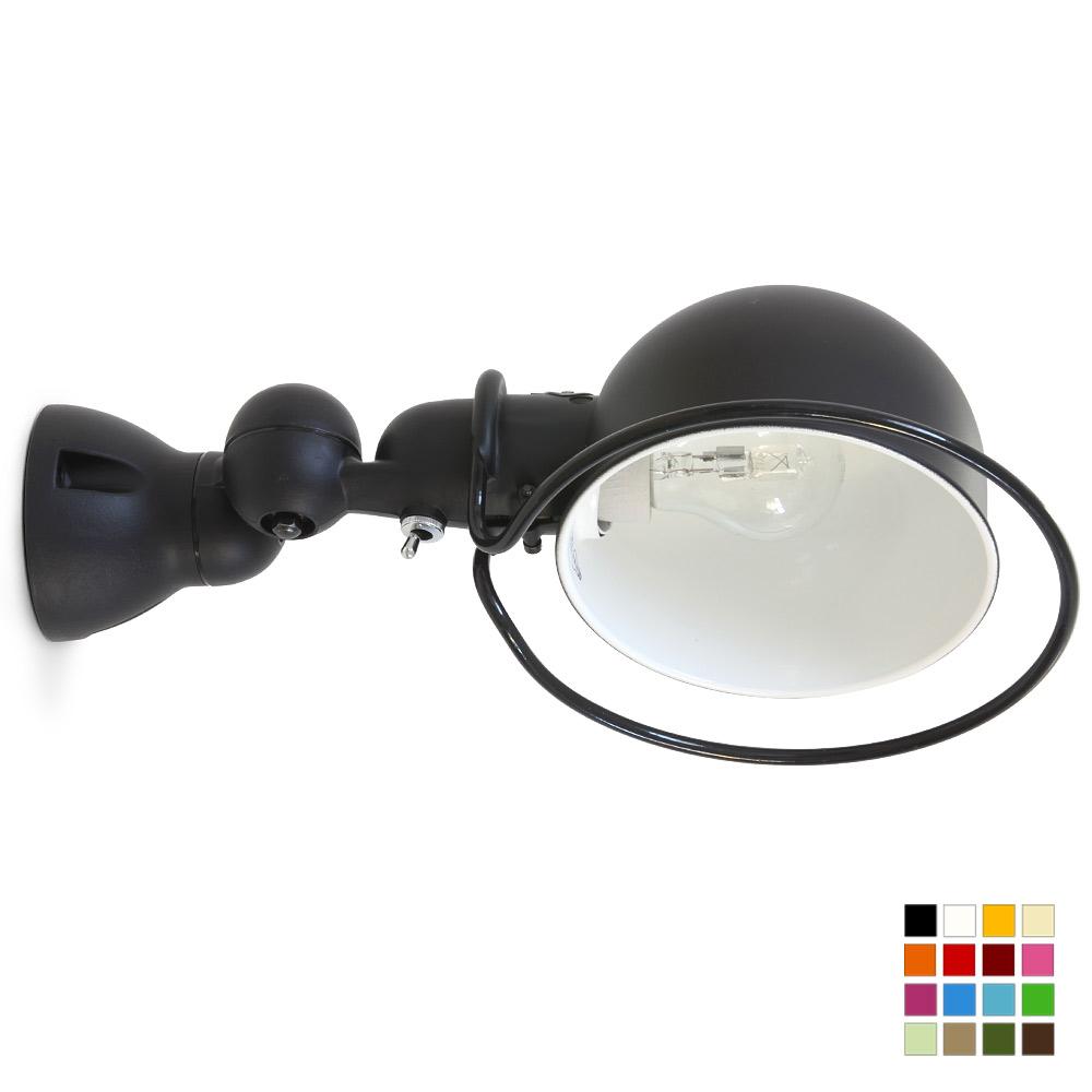 flexibler gelenkwandstrahler loft mit halbkugel reflektor casa lumi. Black Bedroom Furniture Sets. Home Design Ideas