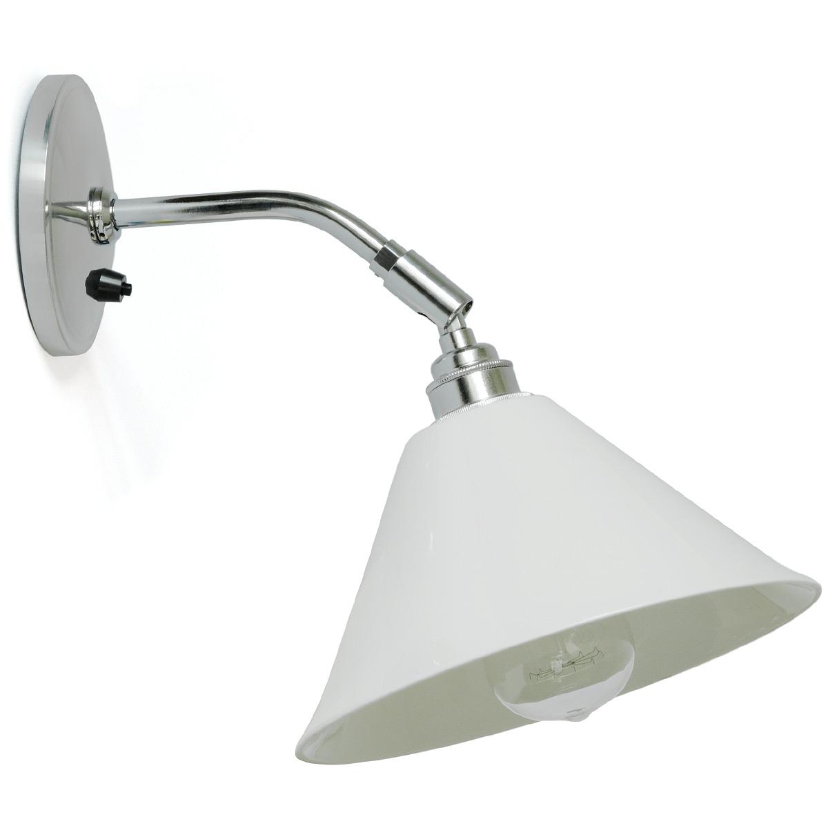 Kleine keramik wandlampe mit gelenkarm task casa lumi - Schwenkbare wandleuchte mit gelenkarm ...
