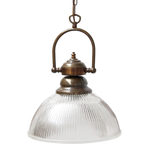 Image 1 Nostalgic Pendant Luminaire In Industrial Style As If From An Irish Pub Antique Brass Patinated Finish