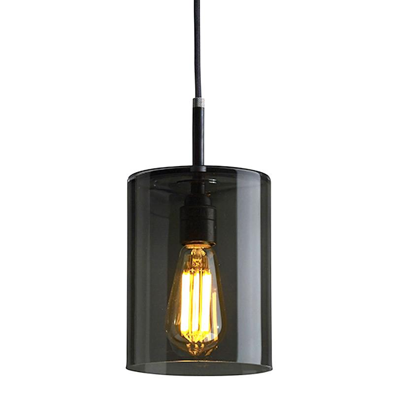 pendelleuchten mit dunklem rauchglas zylinder brompton casa lumi. Black Bedroom Furniture Sets. Home Design Ideas